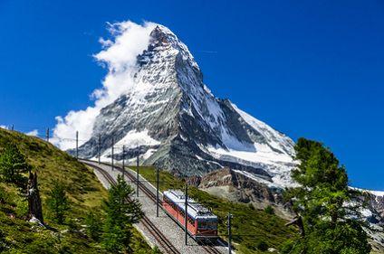 Zug zum Matterhorn