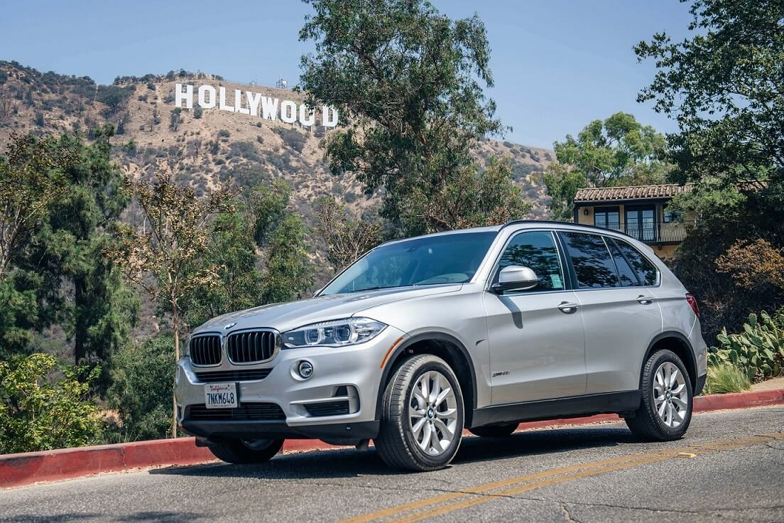 BMW X5 in Hollywood Kalifornien